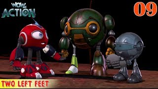 Rollbots in Hindi | Ep9 | Full Episode - Two Left Feet | Hindi Cartoon For Kids | Wow Kidz Action