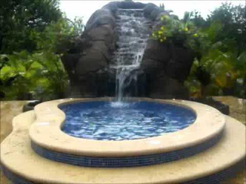 Piscinas en Costa Rica AquaPoolcocr Jacuzzi Con Cascada