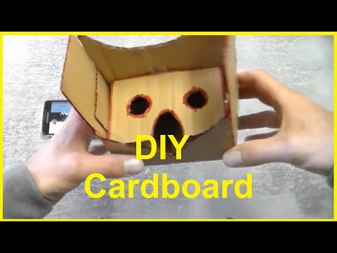 How to make a VR headset for 0 $ DIY Cardboard virtual reality goggles glasses