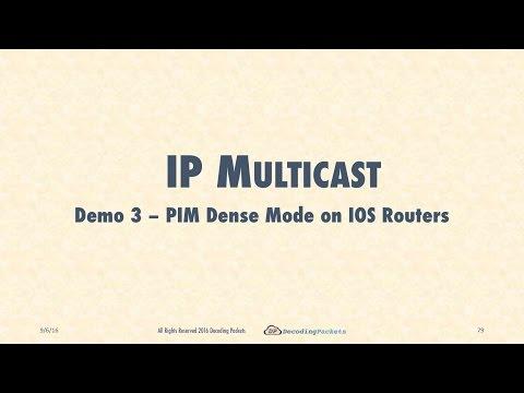 Demo 3.1 - PIM Dense Mode on IOS Routers