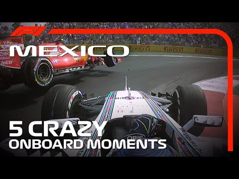 5 Crazy Onboard Moments | Mexican Grand Prix