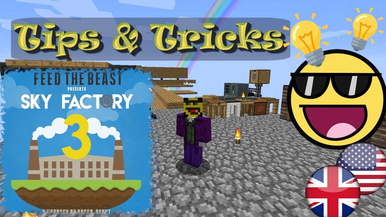 10 Tips & Tricks in Sky Factory 3 for an easy start and fast progress - FTB  - modded Minecraft 1 10
