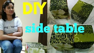 DIY table side table,easy diy,do it yourself,anvesha,s creativity