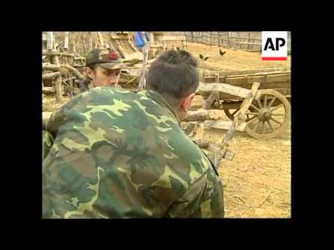 Macedonia: Rebels: Ethnic Albanian rebel forces near the border