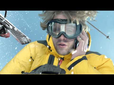 Pub AXA - Comparateur de services d'assurance - Accident de ski