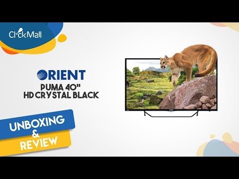 """Orient Puma 40"""" HD Black LED TV Unboxing l Clickmall"""