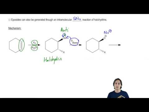 The mechanism of how halohydrins make epoxides via intramolecular SN2