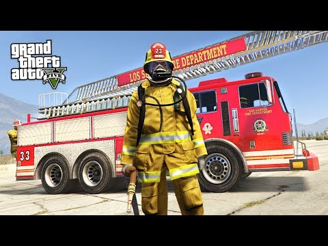 REALISTIC FIREFIGHTER MOD!! (GTA 5 Mods)
