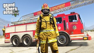 REALISTIC FIREFIGHTER MOD!! (GTA 5 Mods)