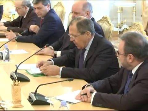 Sergey Lavrov And Andrei Galbur   Переговоры С.Лаврова и А.Галбура