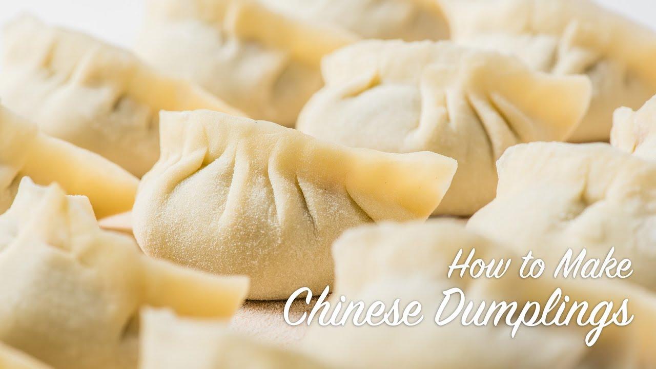 How To Make Chinese Dumplings Recipe 饺子 Youtube