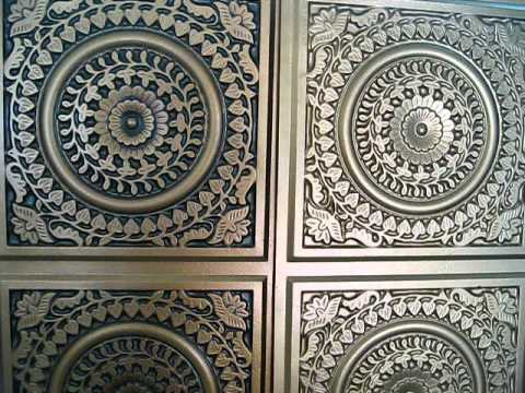 Antique Copper Ceiling Tile looks like real tin for a fraction of the price for home decor