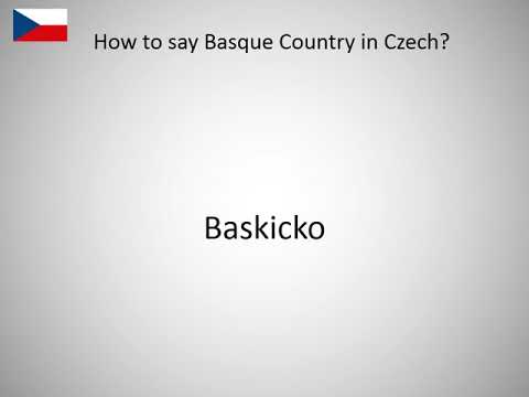 How to say Basque Country in Czech?
