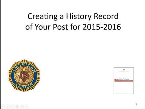Creating a History Record of Your Post for 2015-2016