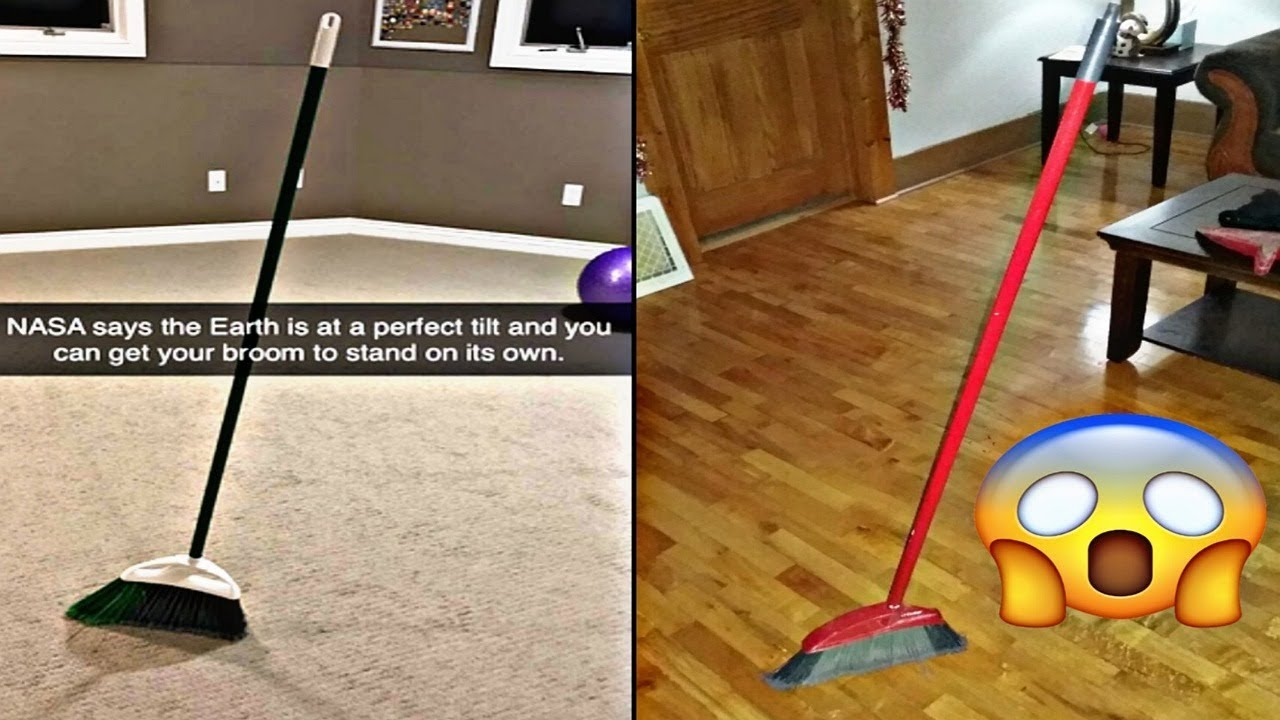 The #broomchallenge isn't real and your broom will stand on its own ...