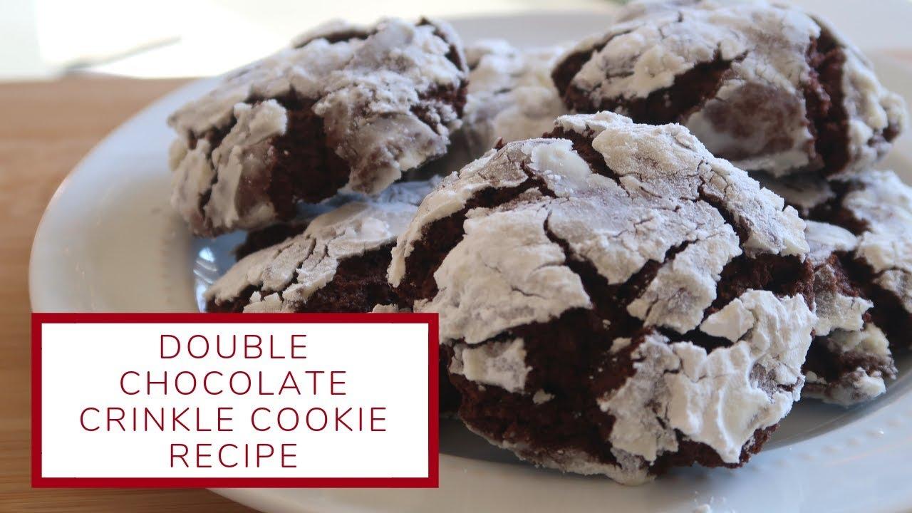 Double Chocolate Crinkle Cookies Christmas Cookie Week Day 5