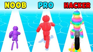 NOOB vs PRO vs HACKER - Rope-Man Run screenshot 2