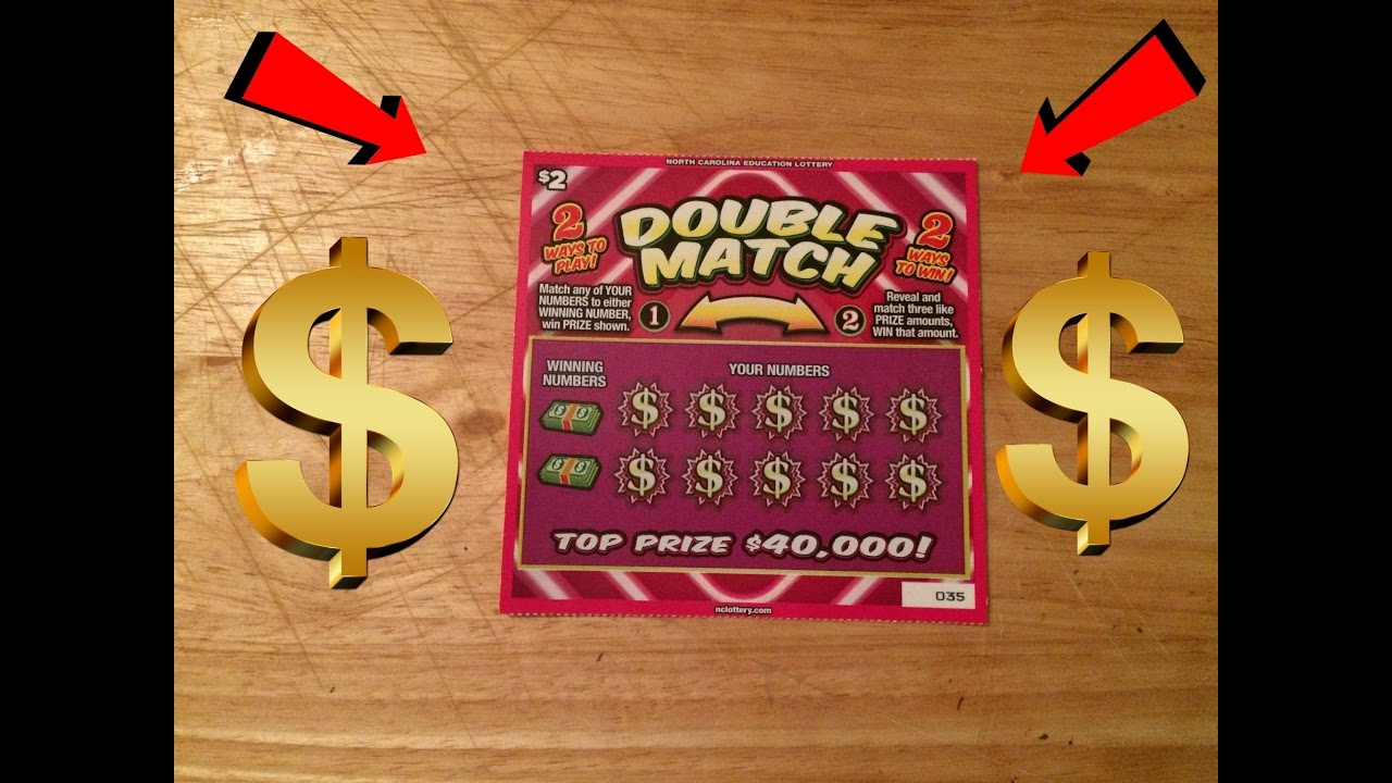 Double Match NC Lottery Scratch Off Ticket
