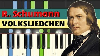Volksliedchen (Folk song) - Robert Schumann [Piano Tutorial] (Synthesia)