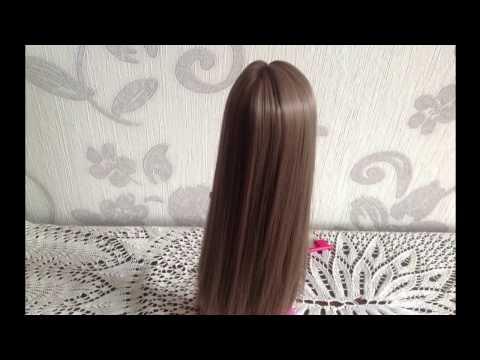 Как приклеить кукле волосы