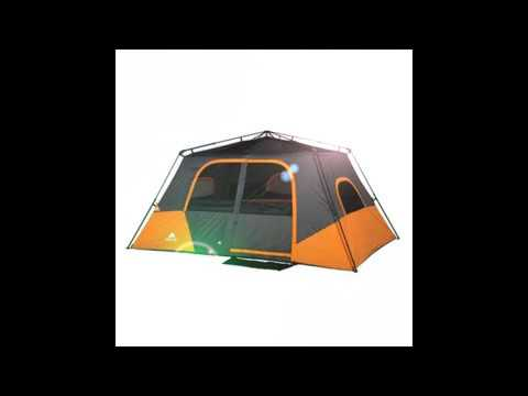 Ozark Trail 8 Person Instant Cabin Tent Review & Ozark Trail 8 Person Instant Cabin Tent Review - YouTube