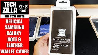 Official Samsung Galaxy Note 9 Leather Wallet Cover