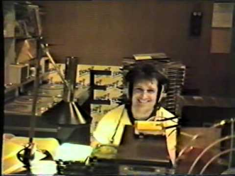 Peter Antony on air at Radio Luxembourg April 1985 featuring Stuart and Ollie Henry