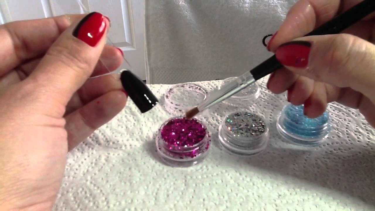 Glitter Review With Shellac Nail Art Gold Leaf Craft Supplies