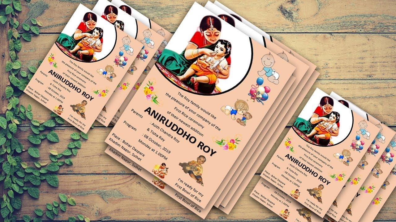 Annaprashan Invitation Card Design Word