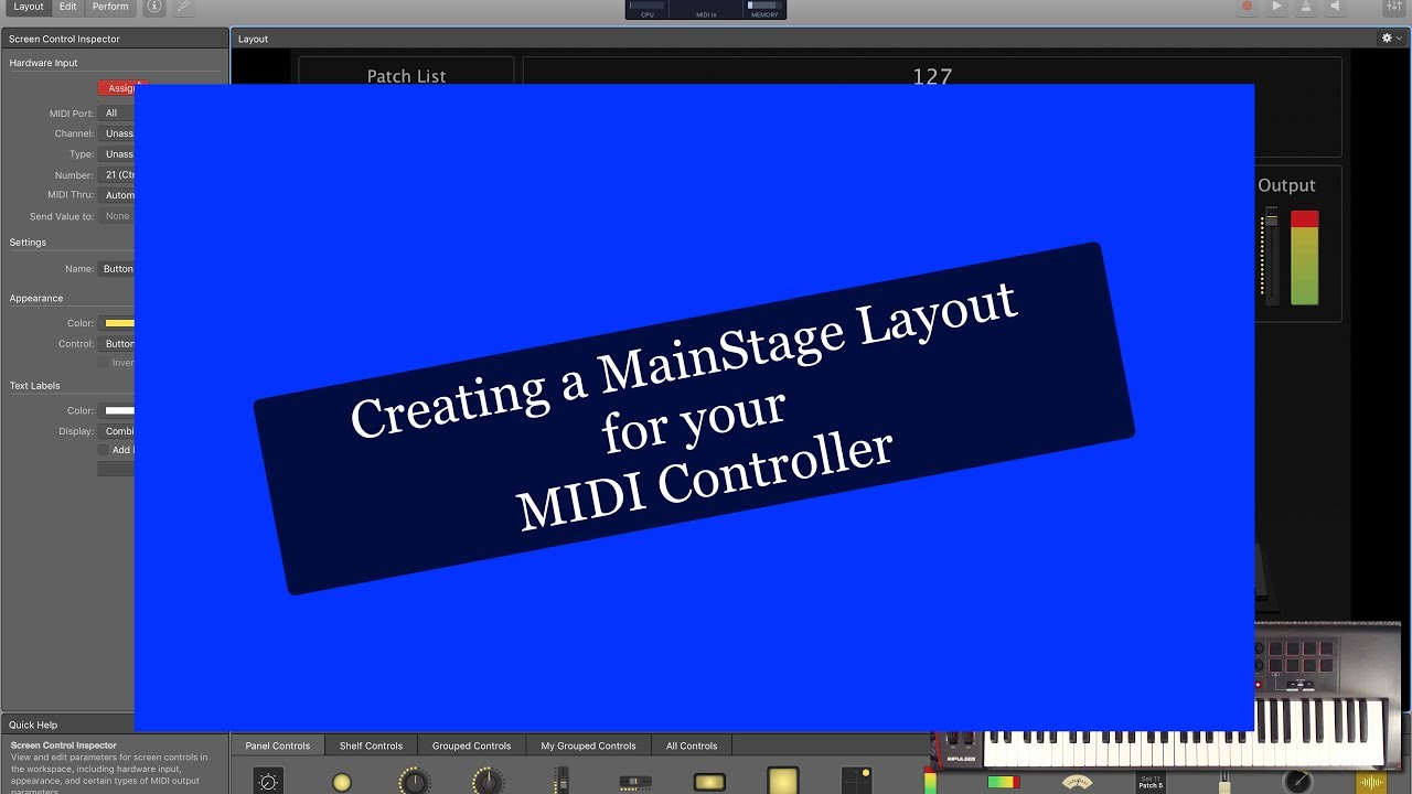 creating a mainstage layout for your midi controller youtube. Black Bedroom Furniture Sets. Home Design Ideas