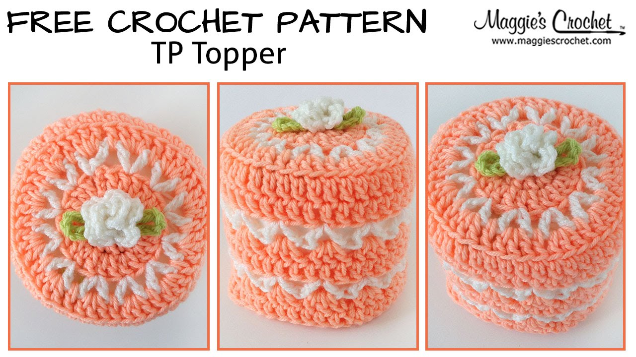 Free Crochet Patterns For Toilet Tissue Holders : V-Stitch Toilet Paper Topper Free Crochet Pattern - Right ...