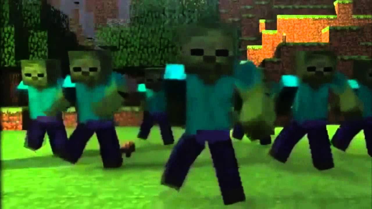 zombie style vs gangnam Style vs Minecraft style