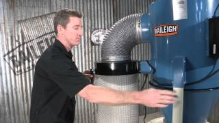 Baileigh Industrial Dc-2100c Cyclone Dust Collector 1 Micron Woodworking Filtration System