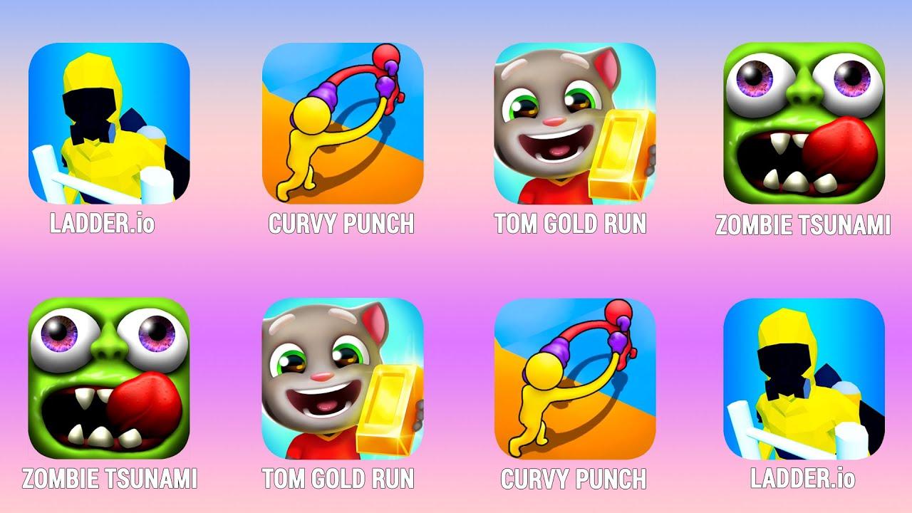 LADDER.io, Curvy Punch, Tom Gold Run, Zombie Tsunami, Walkthrough (Android) | Power of Gameplay
