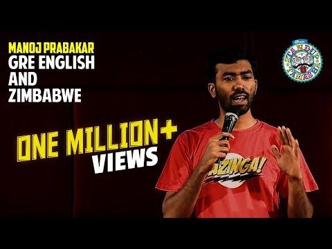 GRE English and Zimbabwe (Part 1) | Stand-up comedy by Manoj Prabakar