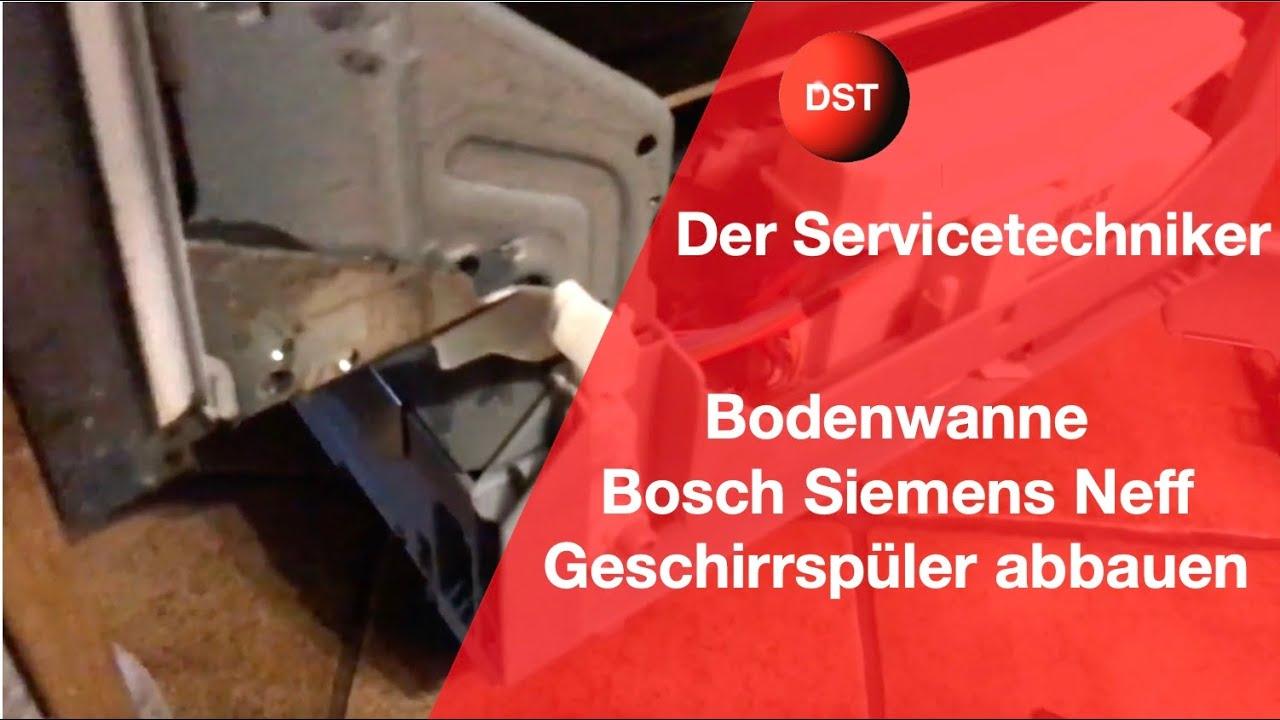 Siemens Kühlschrank Wasser Am Boden : Bodenwanne bosch siemens demontieren youtube