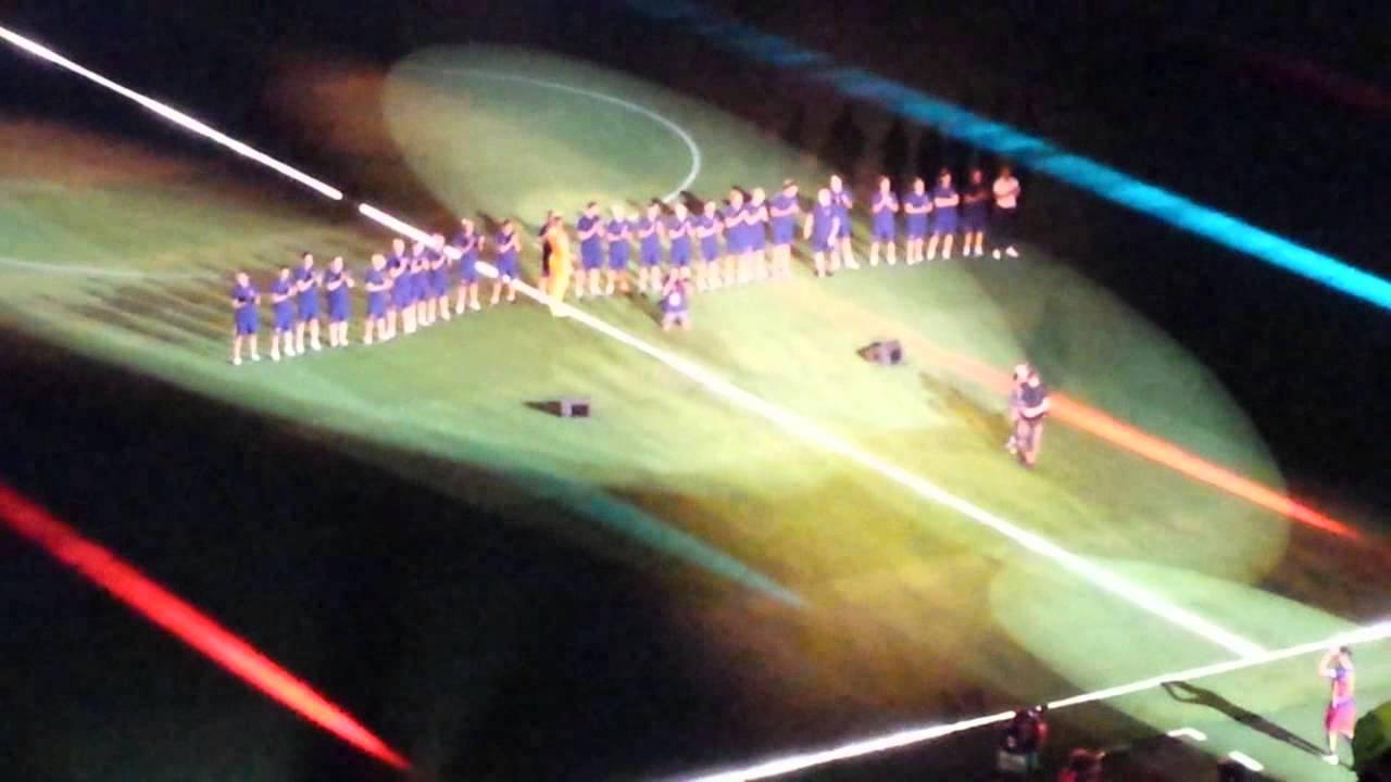 Joan Gamper 2015 FC Barcelona-AS Roma 3-0 Presentacion primer equipo FC Barcelona (Messi, Iniesta)