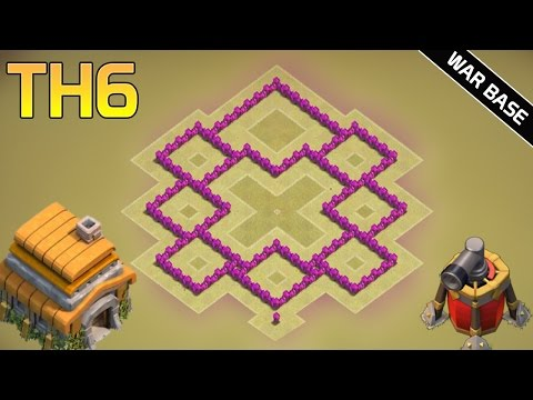 TH6 War Base 2016 | With 2 Air Defenses - Anti Everything CoC Best TH6 Defense Base