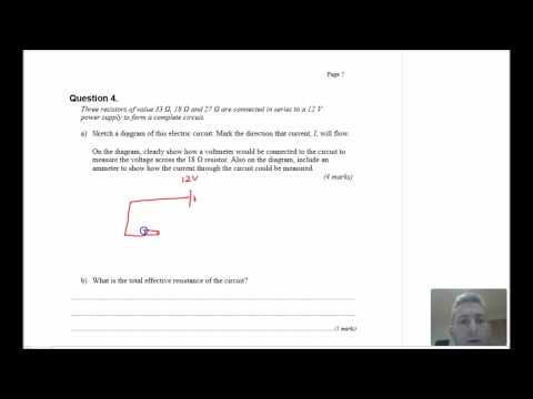 Electricity test review (post 16 physics)