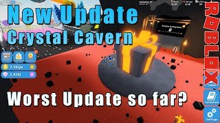 Roblox Unboxing Simulator | New Update Crystal Cavern + new nothing? | RobinKing
