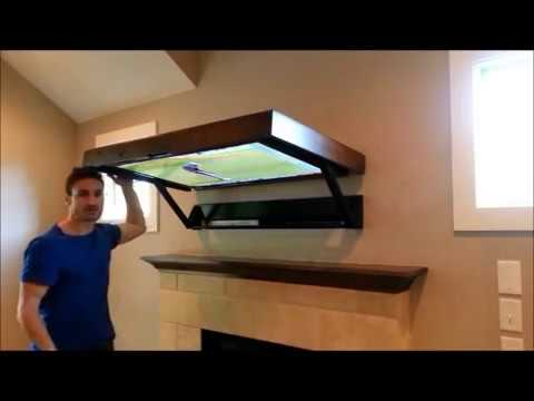 The HIDDEN VISION FLIP-AROUND TV Mount above Fireplace - Manual ...