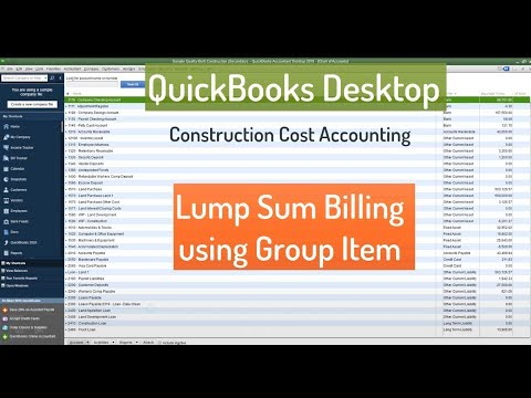 Lump Sum Billing in QuickBooks Desktop
