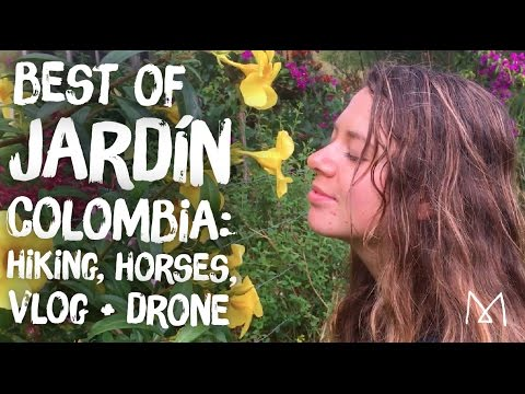 Things to do in Jardín, Colombia, Antioquia Travel Vlog + Drone Footage