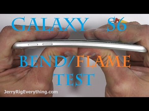 Galaxy S6 FIRE test, Bend Test, Scratch test
