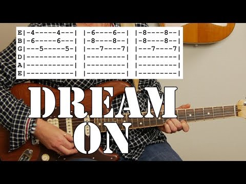 Aerosmith's Dream On (simplified) | Guitar Tutorial | Tab & chords included!