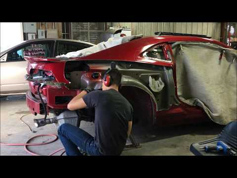 2014 Camaro Quarter Panel Replacement Pt.1