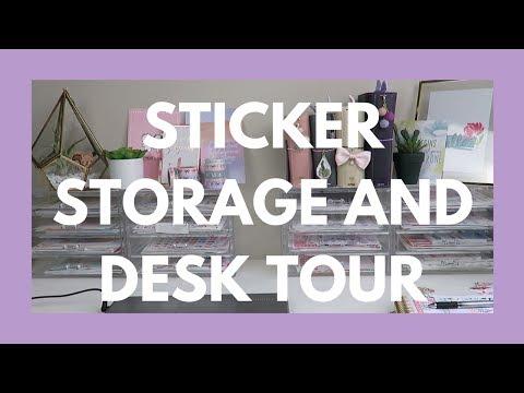 STICKER STORAGE, DESK TOUR, AND PLANNER SUPPLIES COLLECTION!