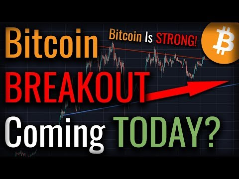 BITCOIN BREAKOUT COMING TODAY? - Bitcoin Testing KEY Resistance