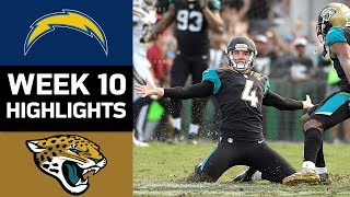 Chargers vs. Jaguars | NFL Week 10 Game Highlights
