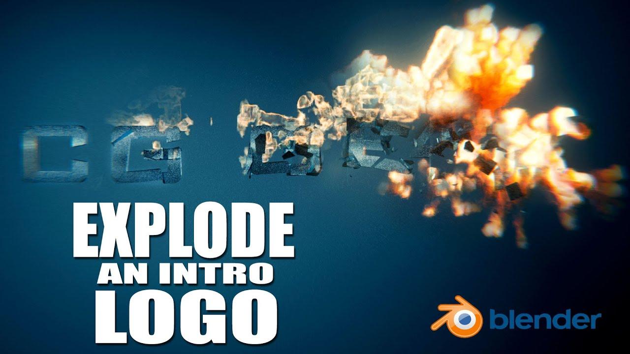 Create a logo explosion animation blender tutorial youtube buycottarizona